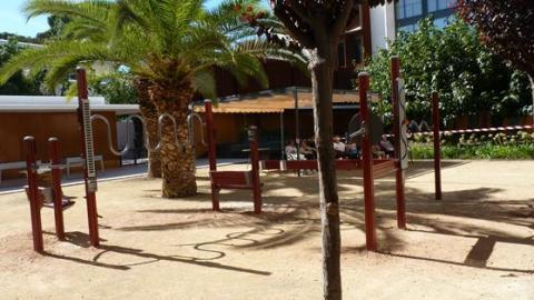 Gimnasio al aire libre en la Residencia San José de Burjassot
