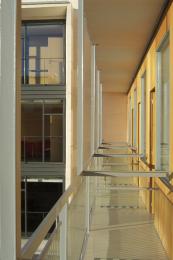 Los balcones de las habitaciones se diseñaron siguiendo criterios de accesibilidad