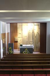 Interior de la capilla de la Residencia