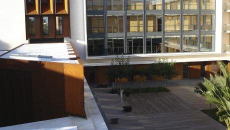 El jardín, como el resto de las instalaciones, se diseñó para ofrecer una accesibilidad máxima