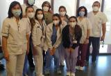 El equipo de profesionales para la vacunación contra la covid19 en la Residencia San José